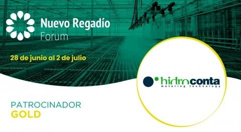 Hidroconta, especialistas gestión y control agua, Gold Sponsor Nuevo Regadío Forum