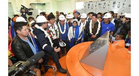 Más 700.000 personas se beneficiarán central hidroeléctrica San José 2, Cochabamba