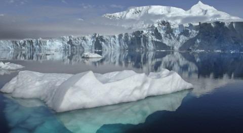 Hielo de la Antártida (NASA).