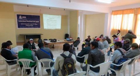 Perú recoge aportes agricultores fortalecer organizaciones usuarios agua