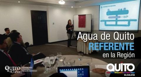 Agua Quito es considerada como referente región