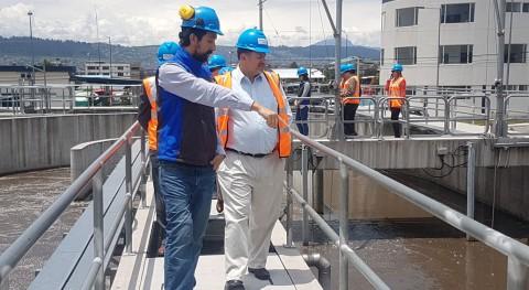 Autoridades Ministerio Ambiente visitaron PTAR QUITUMBE