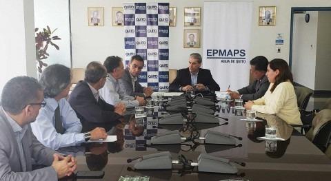 Agua Quito firmó convenio construcción tercer componente Chalpi Grande