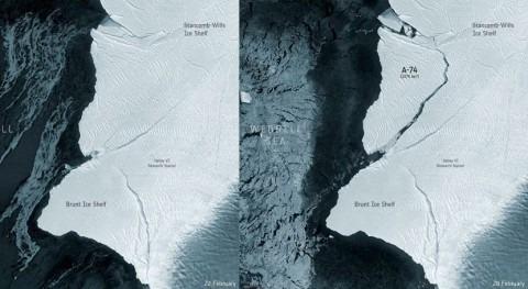 iceberg que duplica tamaño ciudad Madrid se desprende Antártida
