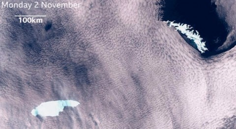 final llega gran iceberg A68 cuatro años deriva