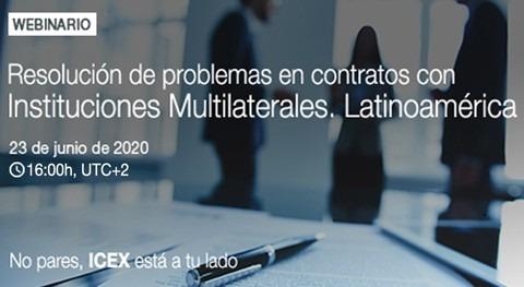 Cómo intentar resolver problemas contratos instituciones multilaterales Latinoamérica