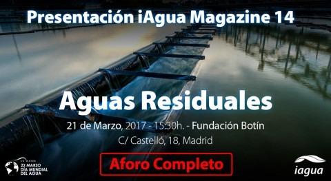 Aforo completo presentación iAgua Magazine 14, que arranca 16:00 horas