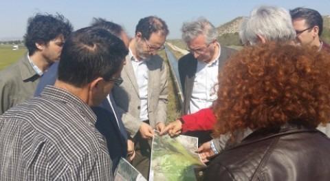 consejero Desarrollo Rural y Sostenibilidad visita Pina Ebro