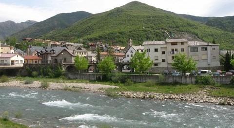 Río Gállego a su paso por Biescas