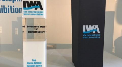 Gerente General Aguas Quito es reconocido IWA WDCE 2017