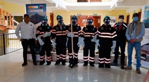 Entrega equipos incendios forestales Altiplano Guatemala