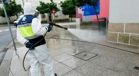 Miya desinfecta calles y espacios públicos norte Portugal