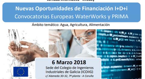 Nuevas oportunidades financiación I+D+i: Convocatorias Europeas WaterWorks y PRIMA