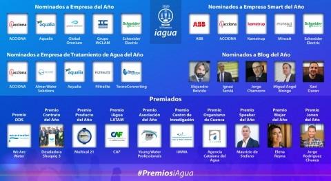 Premios iAgua 2020: Desvelamos 9 ganadores y 20 nominados