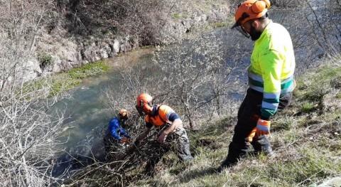 CHE inicia trabajos conservación río Ebro aguas arriba embalse Ebro