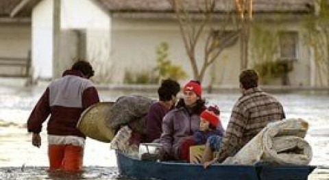 Más 4.100 personas, desplazadas inundaciones Uruguay