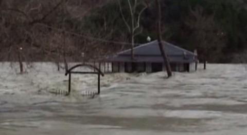 Inundaciones en Albania.