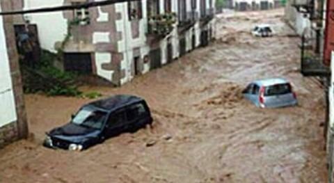 Inundaciones en Navarra el pasado año.