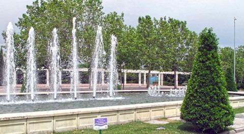 Uno de los parques regados con agua regenerada en la Comunidad de Madrid.