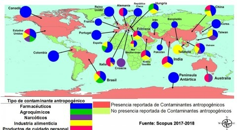 estudio compila hallazgos contaminación fármacos agua
