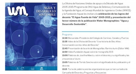 Oficina Decenio Agua se despide Madrid Water Monographies III