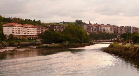 isla Faisanes, España y Francia mitad agua