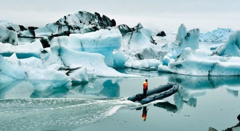 Montañas hielo, ríos agua y océanos vida, catástrofe no reducir emisiones