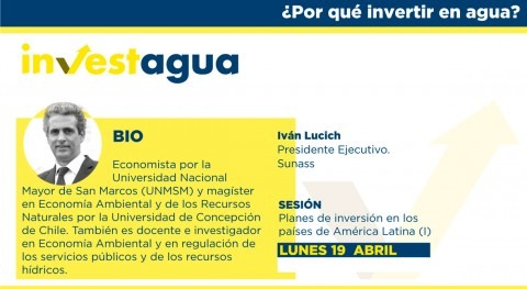 Iván Lucich (SUNASS) anuncia INVESTAGUA 18 proyectos valor 2.000 millones euros