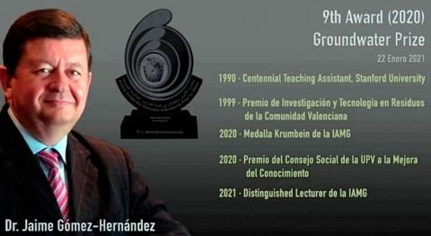 "Jaime Gómez recibe ""Prince Sultan bin Abdulaziz International Prize for Water"""