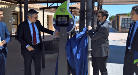 UCAM instala Cargador Smart City SUEZ