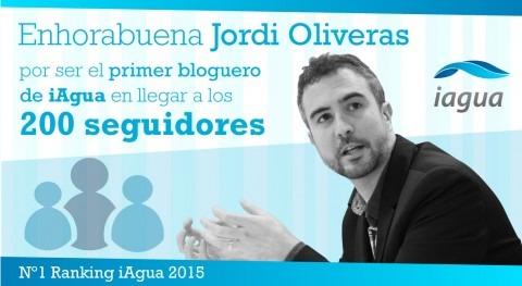 Jordi Oliveras, primer blogger alcanzar 200 seguidores iAgua