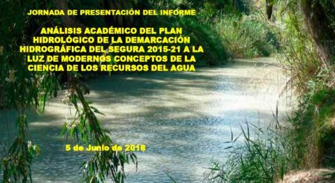 jornada analizará punto vista académico Plan Hidrológico Segura 2015-2021