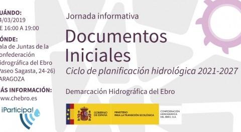 """Jornada participación """" documentos iniciales Plan Hidrológico Ebro 2021-2027"""""""