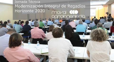 """Gran éxito Jornada Técnica """"Modernización Integral Regadíos Horizonte 2020"""""""