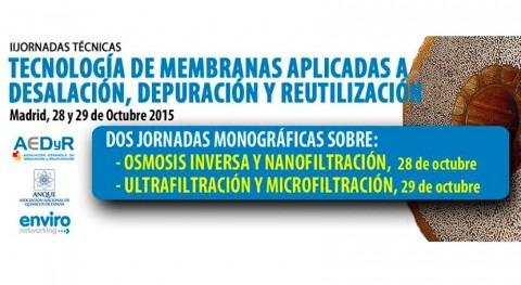 Tecnología Membranas: II Jornadas Monográficas Madrid 28 y 29 octubre