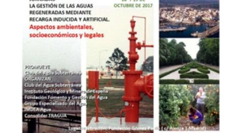 """Jornadas """" gestión aguas regeneradas mediante recarga inducida y artificial"""""""