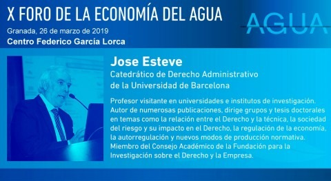 José Esteve, experto ámbito jurídico, intervendrá X Foro Economía Agua