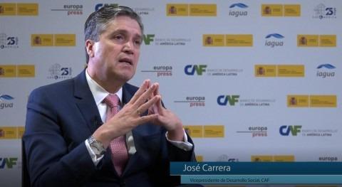 """José Carrera: """" CAF aportamos know-how proyectos y problemas agua"""""""