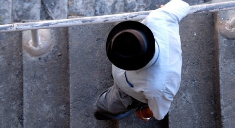 Escalinatas agua bóveda Soria: realidad preexistente 1968