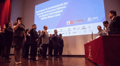 Juran miembros Consejo Recursos Hídricos Cuenca Interregional Chillón-Rímac-Lurín