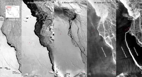 ¿Cómo evoluciona iceberg gigante que se desprendió Antártida?