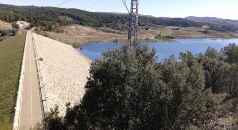embalse Lechago aporta caudal al río Jiloca cubrir demandas afectadas sequía