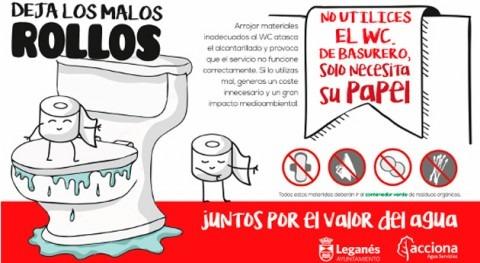 'Deja malos rollos', campaña ACCIONA Agua y Ayuntamiento Leganés