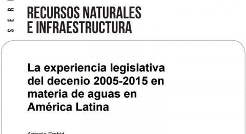 legislación aguas América Latina 2005 y 2015: análisis efectividad