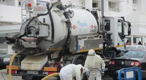 Aqualia extrae 203.100 kilos residuos alcantarillas y redes saneamiento Barbate