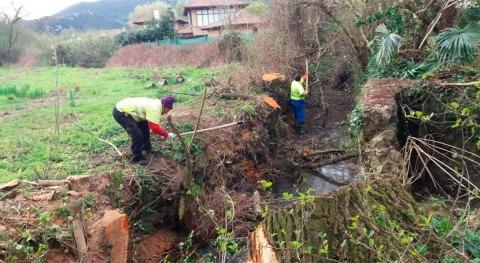 CHC comienza limpieza cauces varios arroyos Liendo