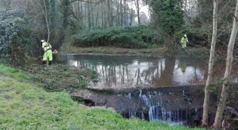 Comienza limpieza río Magdalena municipio Avilés