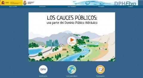 nuevo espacio web CHE resuelve dudas cauces públicos y zonificación