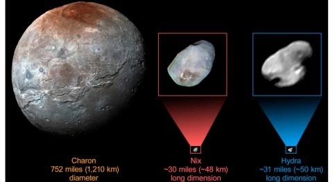 Todas pequeñas lunas Plutón podrían estar cubiertas hielo agua