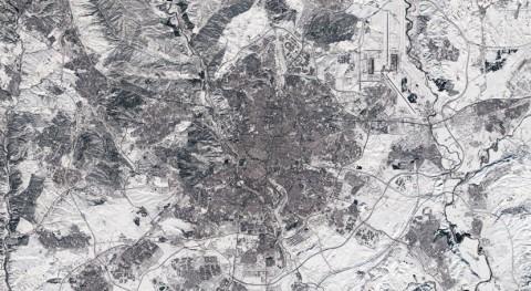 Madrid, cubierta nieve